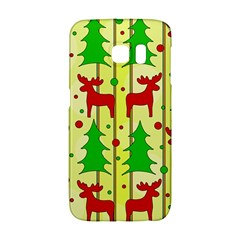 Xmas Reindeer Pattern   Yellow Galaxy S6 Edge by Valentinaart