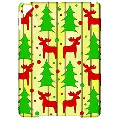 Xmas Reindeer Pattern   Yellow Apple Ipad Pro 9 7   Hardshell Case by Valentinaart