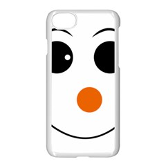 Happy Face With Orange Nose Vector  Apple iPhone 7 Seamless Case (White) by Zeze