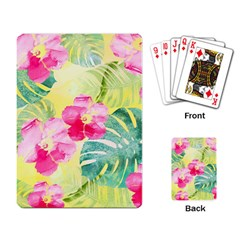 Tropical Dream Hibiscus Pattern Playing Card by DanaeStudio