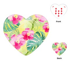 Tropical Dream Hibiscus Pattern Playing Cards (heart)  by DanaeStudio