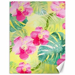 Tropical Dream Hibiscus Pattern Canvas 12  X 16   by DanaeStudio