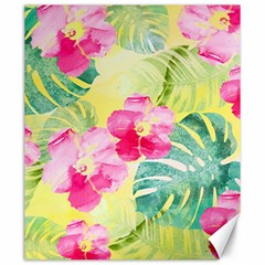 Tropical Dream Hibiscus Pattern Canvas 20  X 24   by DanaeStudio