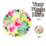 Tropical Dream Hibiscus Pattern Playing Cards 54 (Round)  Front - Club2