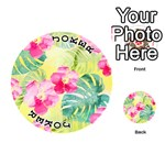 Tropical Dream Hibiscus Pattern Playing Cards 54 (Round)  Front - Joker1
