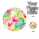 Tropical Dream Hibiscus Pattern Playing Cards 54 (Round)  Back