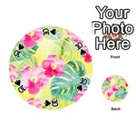 Tropical Dream Hibiscus Pattern Playing Cards 54 (Round)  Front - Spade10
