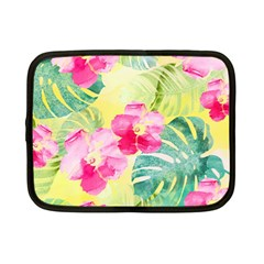 Tropical Dream Hibiscus Pattern Netbook Case (small)  by DanaeStudio