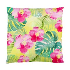 Tropical Dream Hibiscus Pattern Standard Cushion Case (two Sides) by DanaeStudio