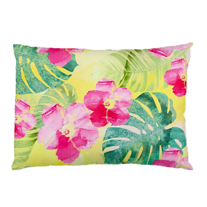Tropical Dream Hibiscus Pattern Pillow Case