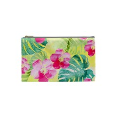 Tropical Dream Hibiscus Pattern Cosmetic Bag (small)  by DanaeStudio