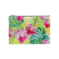 Tropical Dream Hibiscus Pattern Cosmetic Bag (medium)  by DanaeStudio