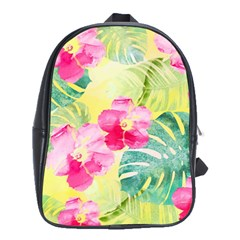 Tropical Dream Hibiscus Pattern School Bags(large)  by DanaeStudio