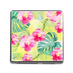 Tropical Dream Hibiscus Pattern Memory Card Reader (square) by DanaeStudio