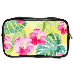 Tropical Dream Hibiscus Pattern Toiletries Bags by DanaeStudio
