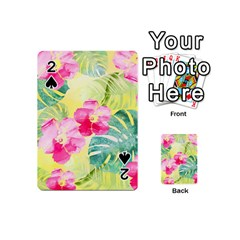 Tropical Dream Hibiscus Pattern Playing Cards 54 (mini)  by DanaeStudio