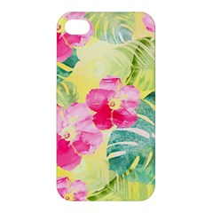 Tropical Dream Hibiscus Pattern Apple Iphone 4/4s Premium Hardshell Case by DanaeStudio