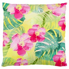Tropical Dream Hibiscus Pattern Large Cushion Case (Two Sides) by DanaeStudio