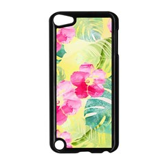 Tropical Dream Hibiscus Pattern Apple Ipod Touch 5 Case (black) by DanaeStudio