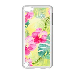 Tropical Dream Hibiscus Pattern Apple Ipod Touch 5 Case (white) by DanaeStudio