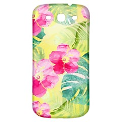 Tropical Dream Hibiscus Pattern Samsung Galaxy S3 S Iii Classic Hardshell Back Case by DanaeStudio