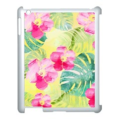 Tropical Dream Hibiscus Pattern Apple Ipad 3/4 Case (white) by DanaeStudio
