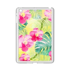 Tropical Dream Hibiscus Pattern Ipad Mini 2 Enamel Coated Cases by DanaeStudio