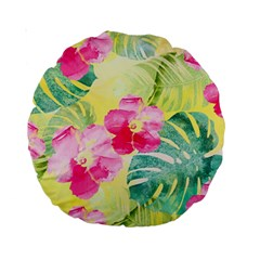 Tropical Dream Hibiscus Pattern Standard 15  Premium Round Cushions