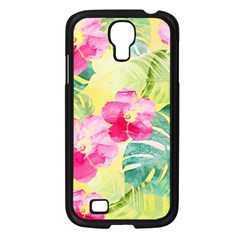 Tropical Dream Hibiscus Pattern Samsung Galaxy S4 I9500/ I9505 Case (black) by DanaeStudio