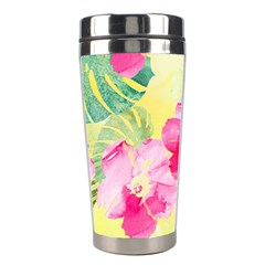 Tropical Dream Hibiscus Pattern Stainless Steel Travel Tumblers by DanaeStudio