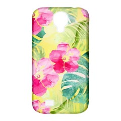 Tropical Dream Hibiscus Pattern Samsung Galaxy S4 Classic Hardshell Case (pc+silicone) by DanaeStudio