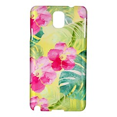 Tropical Dream Hibiscus Pattern Samsung Galaxy Note 3 N9005 Hardshell Case by DanaeStudio