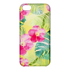 Tropical Dream Hibiscus Pattern Apple Iphone 5c Hardshell Case by DanaeStudio