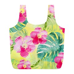 Tropical Dream Hibiscus Pattern Full Print Recycle Bags (l)  by DanaeStudio