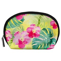 Tropical Dream Hibiscus Pattern Accessory Pouches (large)  by DanaeStudio