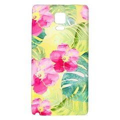 Tropical Dream Hibiscus Pattern Galaxy Note 4 Back Case by DanaeStudio