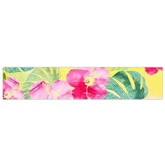 Tropical Dream Hibiscus Pattern Flano Scarf (small) by DanaeStudio
