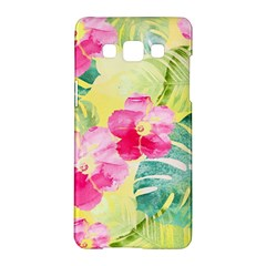 Tropical Dream Hibiscus Pattern Samsung Galaxy A5 Hardshell Case  by DanaeStudio