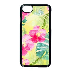 Tropical Dream Hibiscus Pattern Apple Iphone 7 Seamless Case (black)