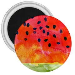 Abstract Watermelon 3  Magnets by DanaeStudio