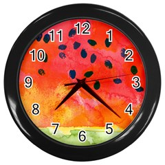 Abstract Watermelon Wall Clocks (black) by DanaeStudio