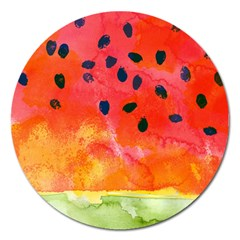 Abstract Watermelon Magnet 5  (round) by DanaeStudio
