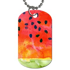 Abstract Watermelon Dog Tag (two Sides) by DanaeStudio