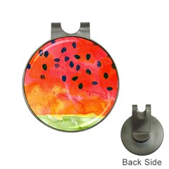 Abstract Watermelon Hat Clips With Golf Markers by DanaeStudio