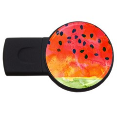 Abstract Watermelon Usb Flash Drive Round (4 Gb)  by DanaeStudio