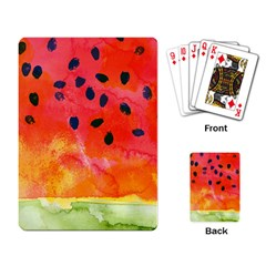 Abstract Watermelon Playing Card by DanaeStudio