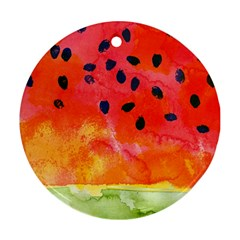 Abstract Watermelon Round Ornament (two Sides)  by DanaeStudio