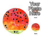 Abstract Watermelon Playing Cards 54 (Round)  Front - Spade4
