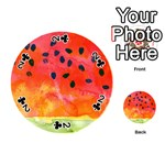 Abstract Watermelon Playing Cards 54 (Round)  Front - Club2