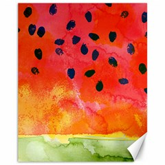 Abstract Watermelon Canvas 11  X 14   by DanaeStudio